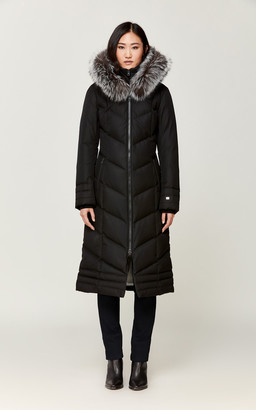 Soia & Kyo MAYCEE water-repellent maxi-length coat with puffy bib