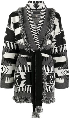 Alanui Cashmere Abstract Pattern Cardigan