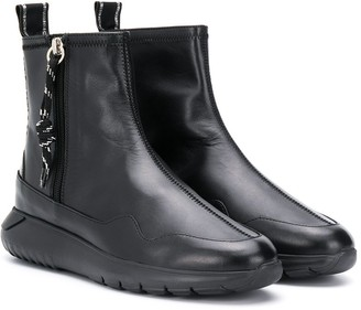 Hogan TEEN zip-up ankle boots