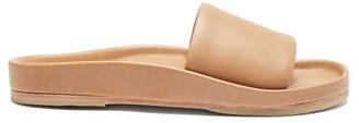 LAUREN MANOOGIAN Contour Leather Slides - Tan