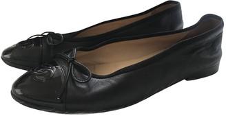 Chanel Black Leather Ballet flats
