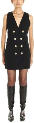 Balmain Double-Breasted Waistcoat Dress