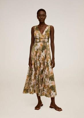 MANGO Floral print dress off white - 2 - Women