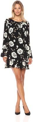Lucca Couture Women's Gemma Print Long Sleeve Shift Dress