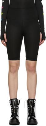 MSGM Black Logo Activewear Shorts