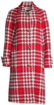 Escada Myrna Houndstooth Tweed Coat
