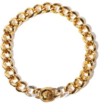 Versace Medusa Curb-chain Choker - Silver Gold