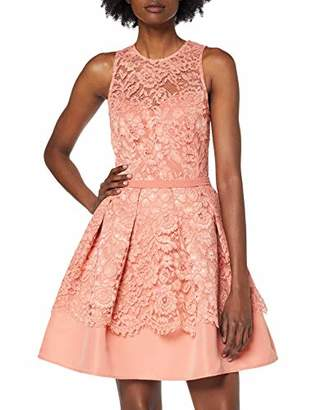 Little Mistress Women's Miranda Lace Mini Skater Dress Party,(Size:)