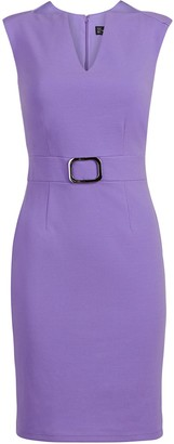 New York & Co. Belted Sheath Dress - Magic Crepe