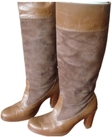 Max Mara Beige Leather Boots