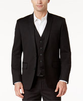 INC International Concepts Black Non-Iron Two-Button Blazer, Created for Macy's
