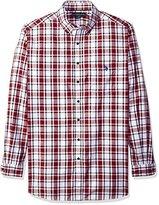 U.S. Polo Assn. Men's Long Sleeve Plaid Poplin Sport Shirt
