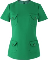 Michael Kors Short Sleeve Back Zip Four Front Pocket Top