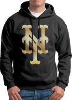 Sarah Men's New York Mets Glod Logo Hoodie XXL