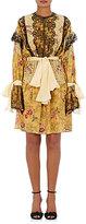 Faith Connexion Women's Sash-Tie Floral-Print Silk Crepe Dress-YELLOW