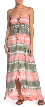 Tiare Hawaii Strapless Tie Dye Maxi Dress
