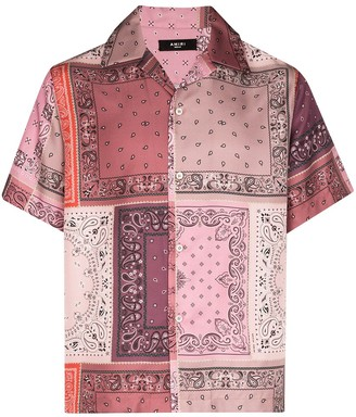 Amiri Bandana-Print Silk Shirt