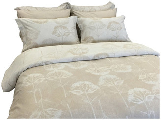 Natural Comfort Yue Home Textile Yarn-Dyed Linen Cotton Duvet Cover Set, Hydrangea, Du