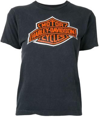 Fake Alpha Vintage Harley Davidson logo print T-shirt