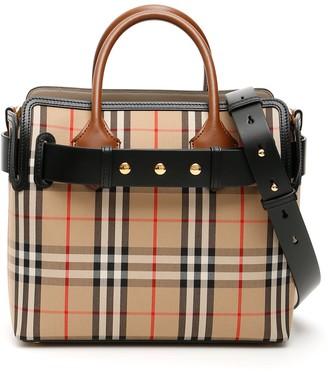 Burberry Small Vintage Check Triple Stud Tote Bag