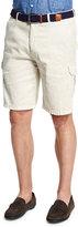 Peter Millar Garment-Dyed Cargo Shorts