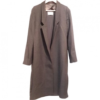 Maison Margiela Black Wool Coat for Women Vintage