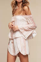 The Jetset Diaries Bell Sleeve Off Shoulder Top
