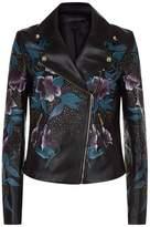 Elie Saab Floral Embellished Leather Jacket