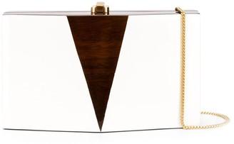 Rocio Skye two-tone clutch bag