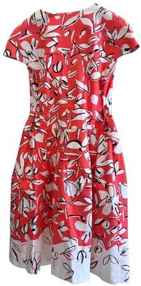 Oscar de la Renta Red Cotton - elasthane Dresses