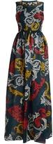 Mary Katrantzou Shaw Moire silk-jacquard gown