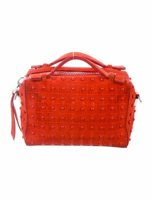 Tod's Micro Gommino Studded Box Bag Red