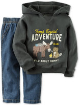 Carter's 2-Pc. Adventure Club Hoodie & Jeans Set, Baby Boys (0-24 months)