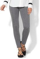 New York & Co. 7th Avenue Pant - Legging - Ponte - Heather Grey Colorblock