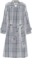Temperley London Checked linen and cotton-blend trench coat