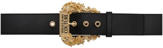 Versace Jeans Couture Black Baroque Buckle Belt