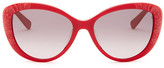 Valentino Women&s Cat Eye Rose Sunglasses