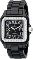 Peugeot Women's 7062BK Swarovski Crystal Bezel Acrylic Watch