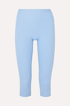 YEAR OF OURS Reformer Cropped Ribbed Stretch Leggings - Light blue