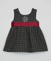 Princess Linens Green & Red Plaid Monogram Sleeveless Dress - Infant & Toddler