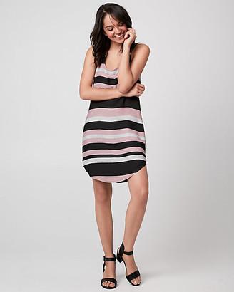 Le Château Stripe Crepe de Chine Racerback Tunic Dress