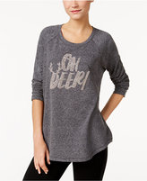 Style&Co. Style & Co. Oh Deer Holiday Embellished Sweatshirt, Only at Macy's