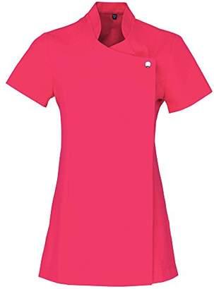 Workwear World WW194 Cross Over Style Beauty Therapist Nail Salon Spa Tunic Pink ()