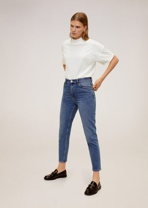MANGO High collar T-shirt off white - M - Women