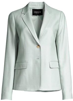 Lafayette 148 New York Thatcher Silk & Wool Blazer