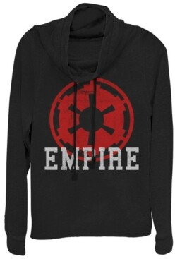 Fifth Sun Star Wars Empire Emblem Cowl Neck Sweater