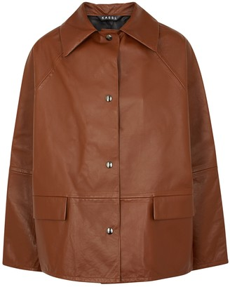 Kassl Editions Brown reversible leather jacket