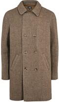 A.p.c. Manteau Time Brown Tweed Coat