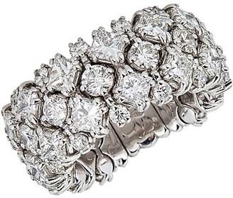 Zydo Stretch 18K White Gold & Diamond Flexible Cocktail Ring