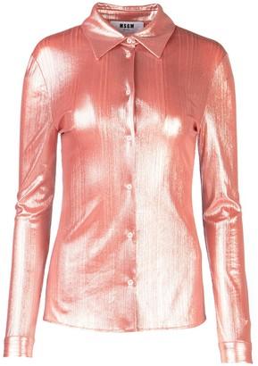 MSGM Metallic Effect Shirt